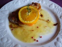 オレンジ風味のハニーポークランチ
