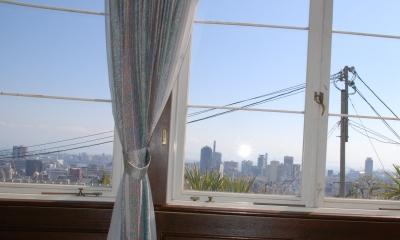 神戸の高台から海の景色