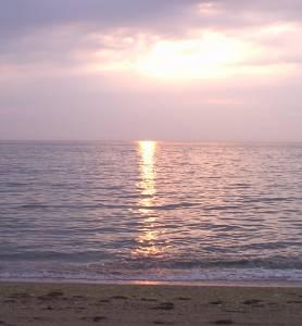 慶野松原海水浴場夕日