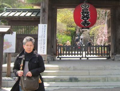長谷寺の門前でパチリ!