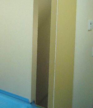 タチカワブラインドのパネルの間仕切りプレイス取付施工