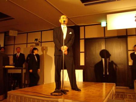 多田宏九段 発起人代表挨拶