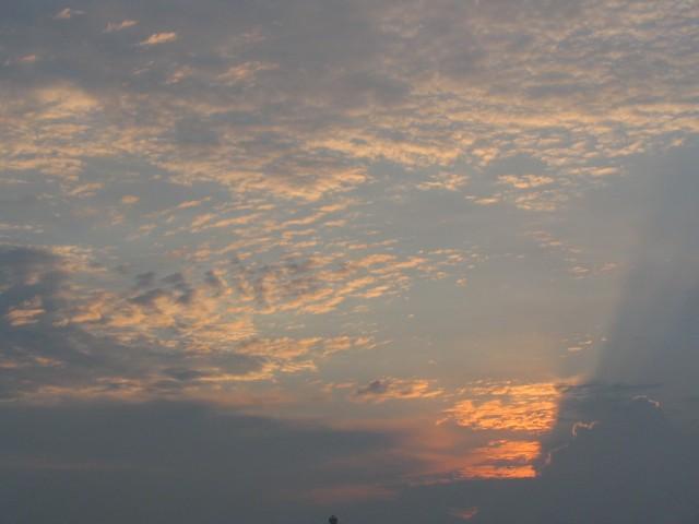 2005/8/6 土曜日の夕暮れ空