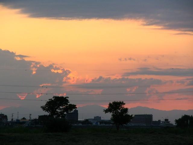 2005/7/27 台風が過ぎた日の夕暮れ