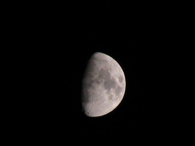2005/10/12 上弦の月