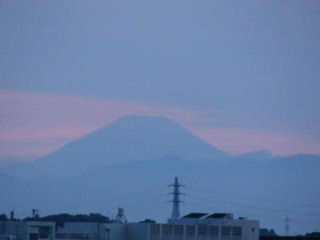 2005/7/31 夕暮れの富士山