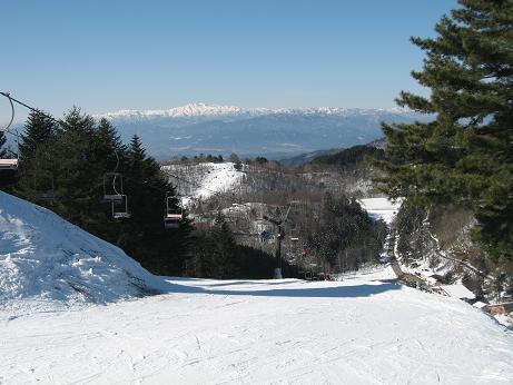 飛騨高山スキー場から見る白山連峰