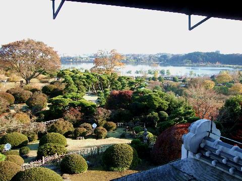20081123 偕楽園 好文亭上の階から見た千波湖