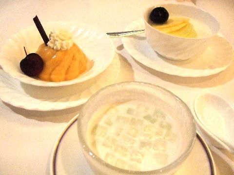 中華デザート3種