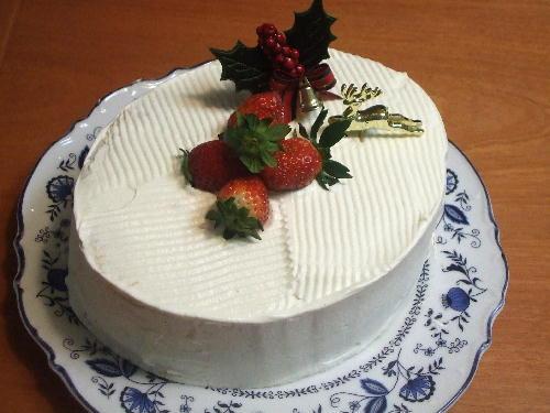 普通の苺のショートケーキ