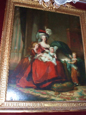 20060811 ヴェルサイユ宮殿にて 王妃と子ども達の肖像画
