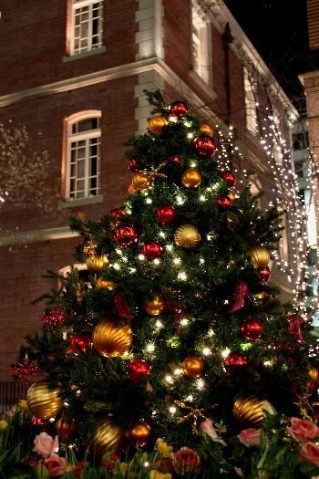 丸の内ブリックスクエアのクリスマスツリー
