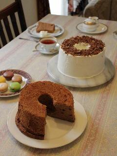お菓子教室 ココアシフォンケーキ
