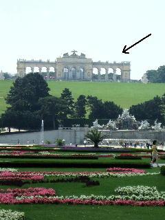 シェーンブルン宮殿 丘の上のグロリエッテ