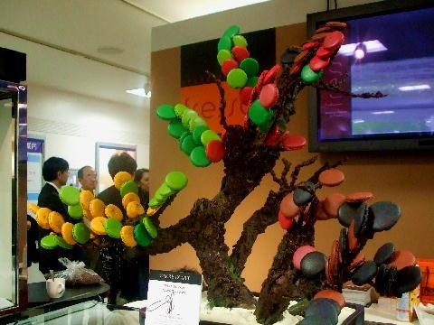 マカロンの盆栽