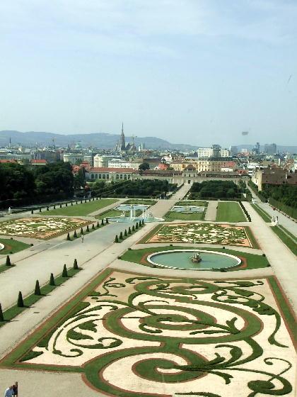 ベルヴェデーレ宮殿の庭園