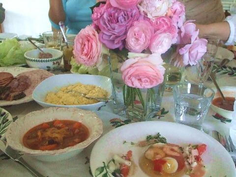薔薇ランチ テーブル1