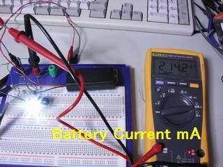 電源電流 214.2mA - ただし、ノコギリ波状の電流を直接測っているのでずれはあるかもしれない