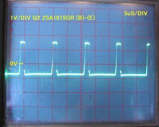 2SA1015GR Vb-Ve 1V/DIV, 5uS/DIV