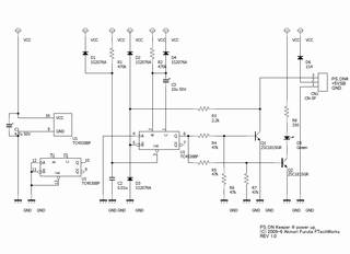 PS_ON# 信号を電源投入直後から 4.7 秒間 LOW にして Assert し続ける回路