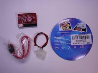クレバリー CB-IDEBSATA-03 - 変換基板, SATA ケーブル, 電源コネクタ 説明書はない。使用方法は基板に英語で書いてあるだけ