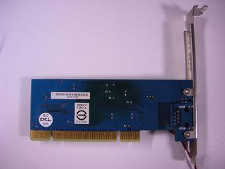 RTL8169 PCI NIC 基板裏面 - 青いレジストが変色してより濃い青色になっている