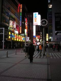 2008/2/1 秋葉原 - 夜遅いせいかもしれないが、なんとなく暗く感じた