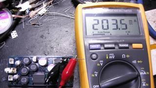 低消費電流化した 秋月 USB Audio 基板 - VBUS 電流は 203.5mA となった。バスパワー HUB にぶら下げるのは難しいが...