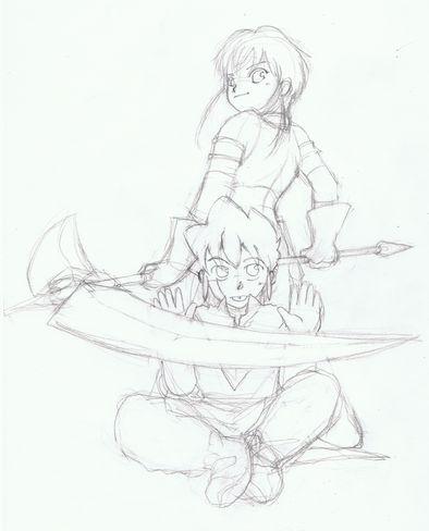 鉛筆描き1