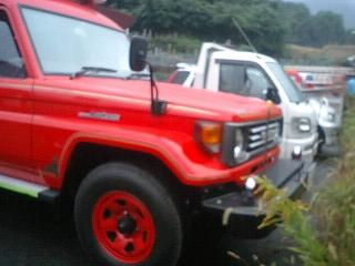 旧型消防ポンプ車