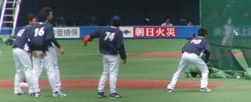 投手陣走塁練習