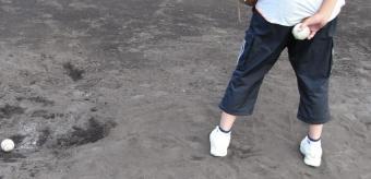 マウンドの土の掘れ