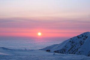夕焼け 雲海