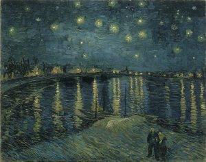 フィンセント・ファン・ゴッホ「星降る夜」1888年 油彩・カンヴァス