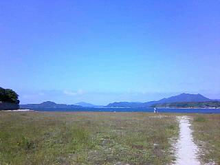 2010,5,30 指月公園ピクニック 海を眺めて