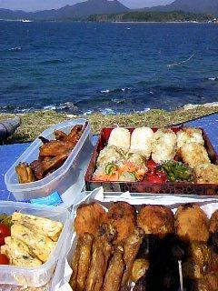 2010,5,30 指月公園ピクニック お弁当