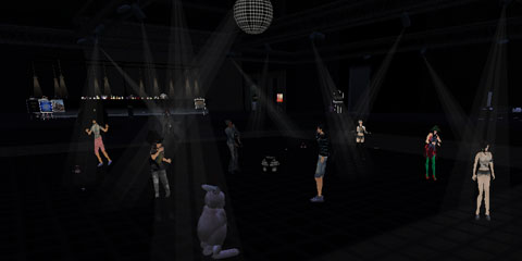 クラブで踊るうさぎ
