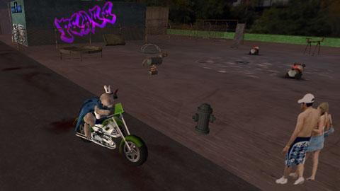 バイク乗って