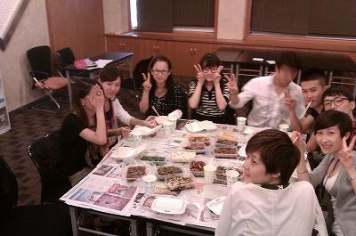 お弁当食べました@上海