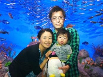 100924新江ノ島水族館で記念撮影.JPG