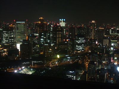 屋上から見た夜景