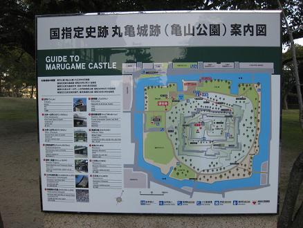 丸亀城周辺マップ