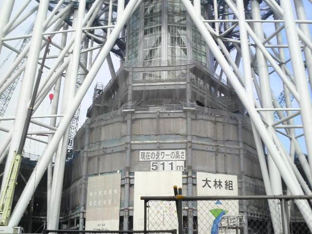 東京スカイツリー(現在511m)