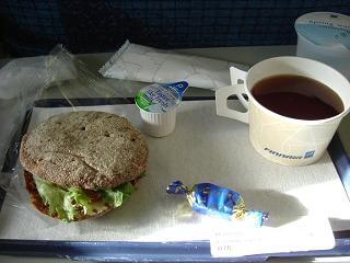 フィンランド航空のインターEU軽食