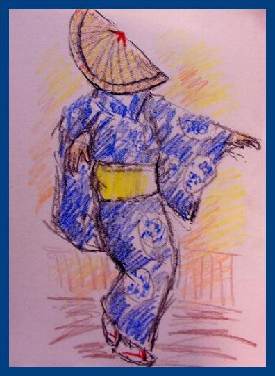 青い踊り笠
