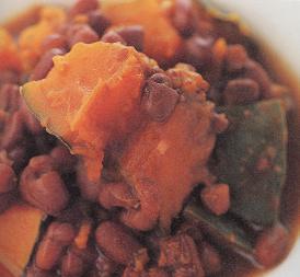 かぼちゃと小豆の塩煮