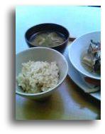 玄米ご飯と手前味噌汁
