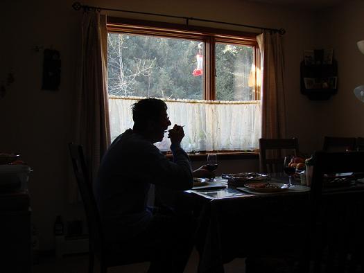 HB Watching Dinner