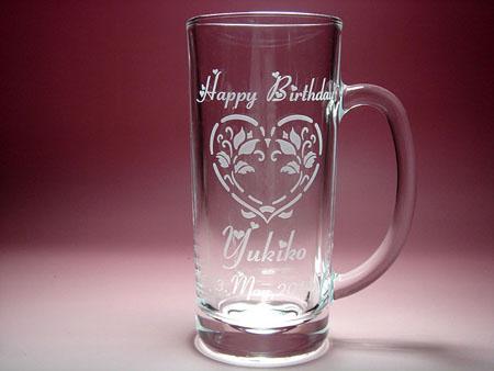 誕生日祝い名入れビアジョッキビールジョッキ