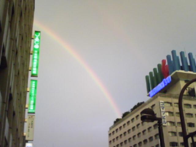 虹が出た!!